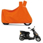 AutoAge Full Orange Two Wheeler Cover For Electric Wave Dx