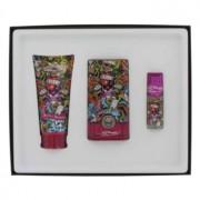 Christian Audigier Love & Luck Eau De Toilette Spray + Hair & Body Wash + Mini EDT Gift Set Men's Fragrance 465680