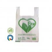 Set 1000 Pungi Biodegradabile Albe, Model Imprimat, 22x6x41 cm, Rezistenta 3 Kg, Grosime 20 MIC - Plase Ecologice
