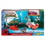 Set Hot Wheels Marvel Ultimate Spider Man Vs. The Sinister 6 Spidey S Speed Drop