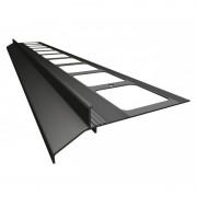 K30 Profil aluminiowy balkonowy 2.0m grafitowy RAL 7024 - listwa balkonowa okapnikowa grafitowa