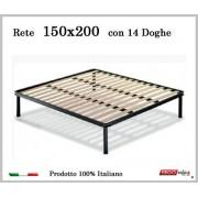 ErgoRelax Rete per materasso a 14 doghe in faggio VIENNA 150x200 cm. 100% Made in Italy