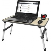 Gizga Essentials Ergonomic Height Adjustable Foldable Multi-Function Portable Table can be used as Laptop Table Eating