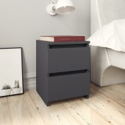 vidaXL Нощни шкафчета, 2 бр, сиви, 30x30x40 см, ПДЧ