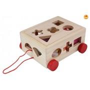 Baybee Wooden Shape Sorter Pull-Along Cube