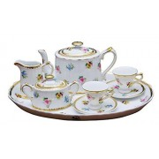 Childrens 10 Piece Mini Tea Set for Two, Petite Floral, Gift Boxed