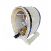 Suport din lemn pentru vin cu pahare culoare natur