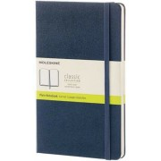 Moleskine Classic Notebook, Large, Plain, Sapphire Blue, Hard Cover (5 X 8.25)