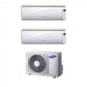 Samsung Condizionatore Samsung Dual Split 7000+12000 7+12 Btu Inverter Aj040fcj2eh/eu A++