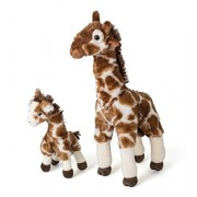 """Mom and Baby Giraffe Plush Toys By Hands On Learning - Super Soft Stuffed Mom and Calf 11"""" and 5.5"""" - Stuffed Safari Animals - Animal Themed Party Accessory - Educational Toy"""