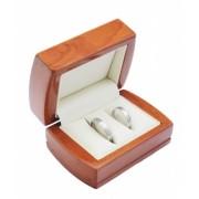 Dřevěná dárková krabička na snubní prsteny DT-3