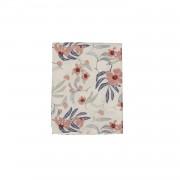 Dille&Kamille Chemin de table, coton, rose/bleuà motif fleur, 50 x 150 cm