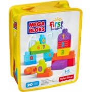 Set Fisher-Price de Construit Numere 20 de Piese Mega Bloks