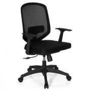 Hjh Silla de oficina DAMA, soporte lumbar ajustable, gran calidad, en negro