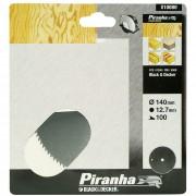 Piranha cirkelzaagblad standaard chroom vanadium 140x12,7 mm 100 tanden X10080