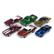 Johnny Lightning Holiday #1 Diecast Models/Ornaments - Set of Six 1/64 Scale Diecast Model Cars