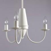 Padana Lampadari Atelier Lampadario A Braccia 3 Luci Metallo Bianco Design Moderno