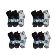 Manan Fashion Multi Color Ankle Sock( Pack Of 12 Pairs )
