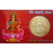 Goddess Laxmi Dhan Laxmi Vaibhav Laxmi Pocket Card Yantra Keep In Purse Temple H