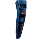 Aparat de barbierit QT4002/15, 1 - 10 mm, 10 Trepte, Acumulatori, Negru/Albastru