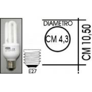 Lampada risparmio energetico 13W E27 3 tubi Kapta