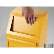 HUL-4301-4 40 literes fém hulladékgyűjtő - sárga