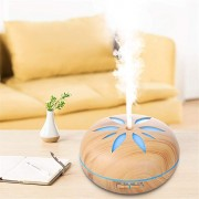 550ml Aroma Essential Oil Diffuser Sun Flower Remote Control Air Ultrasonic Humidifier with 7 Color Night Lights for Home Office