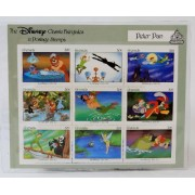 "Disney Classic Fairytales in Postage Stamps ""Peter Pan"" 9 Piece Grenada Stamp Sheet (30 Cents Each)"