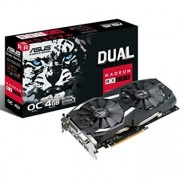 VGA ASUS AMD RADEON DUAL-RX580-O4G 4GB GDDR5 DVI HDMI DISPLAY PORT
