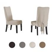 Serta Funda para silla de comedor regular, color Ivory, Silla de comedor pequeña