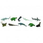 Animale marine pe cale de disparitie - Safari Toob - Set 12 figurine