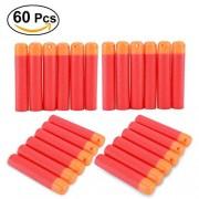 Zinnor Darts Refill Bullets 60 Pcs 9.5cm Red Refill Darts for Nerf Guns Nerf N-Strike Elite Blasters Nerf Guns Mega Centurion Sniper Bullet Blaster Toy Gun (Red)