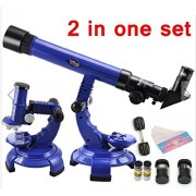 Vortex Toys Telescope Microscope Set - 2IN1 - Science Nature Educational Astronomy Learning Kids Toy
