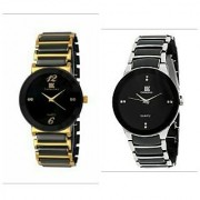 IIK Gold-Black Silver -Black watches For Men - Combo by 7star