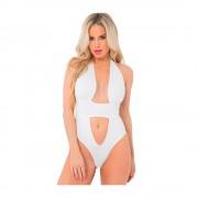 Take The Plunge Bodysuit Vit (Storlek: Medium / Large)