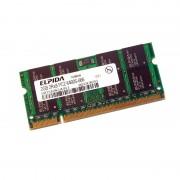 2Go RAM PC Portable SODIMM Elpida EBE21UE8ACUA-6E-E DDR2 667Mhz PC2-5300 CL5