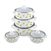 Set oale emailate 10 piese FESTA VANORA model lime