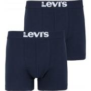Levi's Boxershorts 2-Pack Marine - Dunkelblau Größe XL