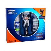 Gillette Fusion Proglide Flexball 1 ks sada holicí strojek s jednou hlavicí 1 ks + náhradní hlavice 2 ks + gel na holení Series Sensitive 75 ml pro muže