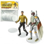 Action Figure Stand Pack of 25 White Stands