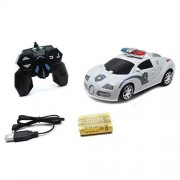 Wembley Toys 2 in 1 (Battery Operated) Transforming Convert Into Robot Action Figure for Kids Toy with Remote Control, Quality Tyres, Bright Lights and Music (Police CAR)