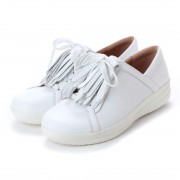 【SALE 50%OFF】フィットフロップ FitFlop F-SPORTY II LACE UP FRINGE SNEAKERS - LEATHER (Urban White) レディース