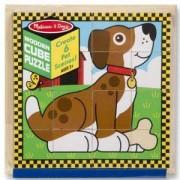 Дървен пъзел - Кубчета с животни - 13771 - Melissa and Doug, 000772137713