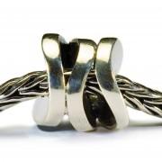 Trollbeads TAGBE-30094 Kraal Lachende cilinder zilver