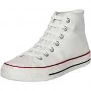 Shoeps 14x Witte schoenveters elastisch/elastiek siliconen