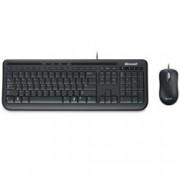 Microsoft Wired Desktop 600, комплект клавиатура и мишка, USB, черни