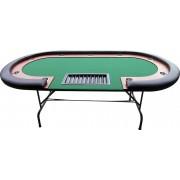 Ovális póker asztal - fekete