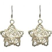 Women Handmade Fashion New Design 925 Sterling Silver Wire Star Hook Earrings