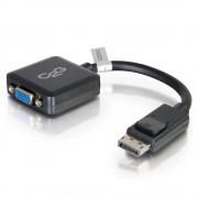 C2G 20cm DisplayPort to VGA Adapter Converter - DP Male to VGA Female - Black - Adaptador VGA - DisplayPort (M) para HD-15 (VGA