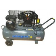 Compresor de aer Stager HM-V-0.25/100, 3 CP, 100 L, 8 BAR